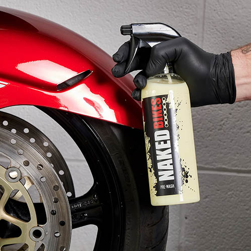 Motorcycle wheel cleaning